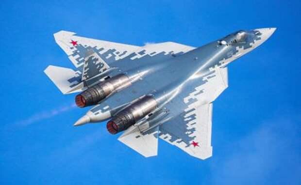 На фото: истребитель Су-57