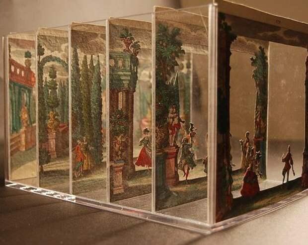 Миниатюрный театр из бумаги, Германия, 1730-е гг.