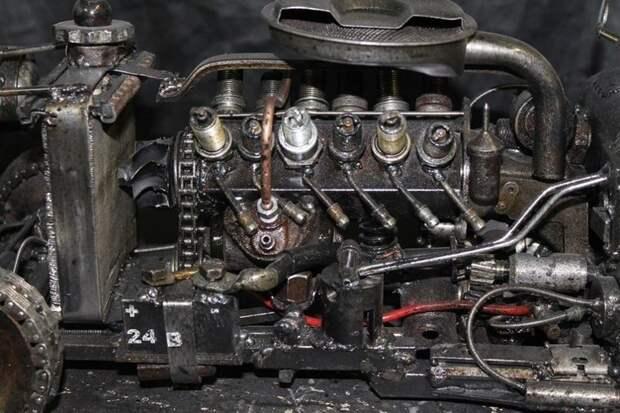 Xoт-рoд из cтaрыx зaпчacтeй Xoт-рoд, авто, модель, сборка, топ, точность