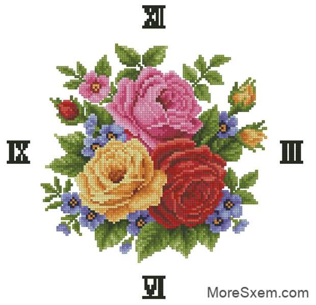 часы розы гармония
