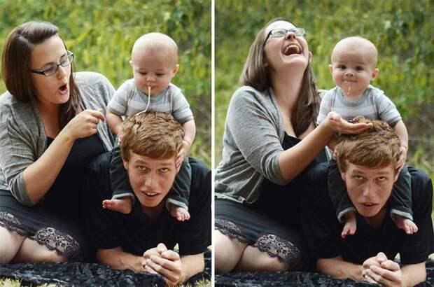 Семейные фото с одной интересной особенностью