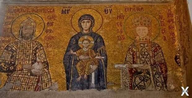 Это фрески Айа Софии в Стамбуле, 11 в...