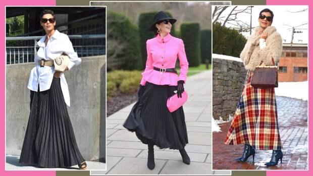 Как женщинам до и после 50-ти носить весной длинную юбку, чтобы не добавлять себе года