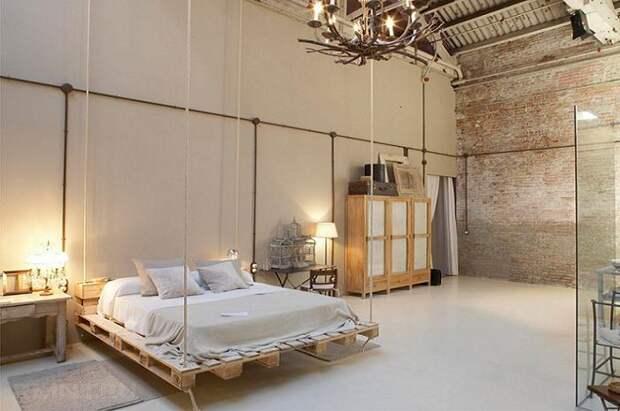 Фантастическая кровать на подъемниках.