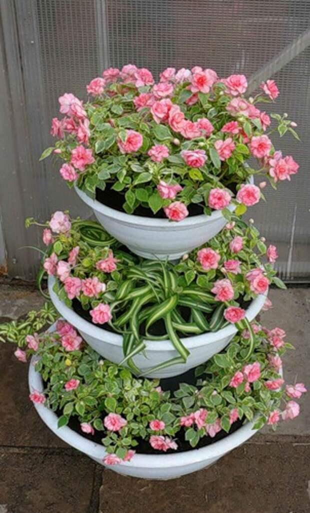 Красивые идеи цветочных кашпо