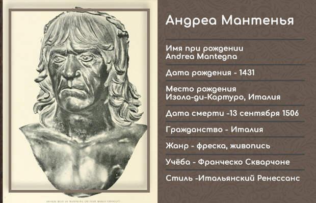 Инфографика: Андреа Мантенья