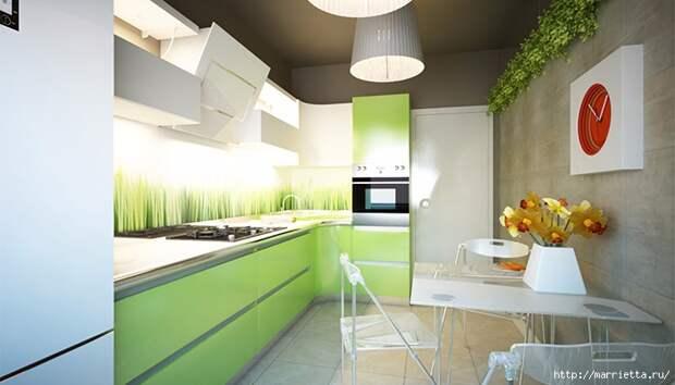 Как правильно оформить кухню в зеленых тонах (3) (700x400, 159Kb)