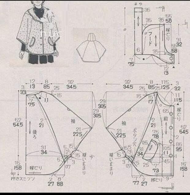 Куртка с капюшоном (выкройка)