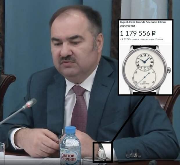 У главы Пенсионного фонда заметили часы стоимостью в 97 севастопольских пенсий