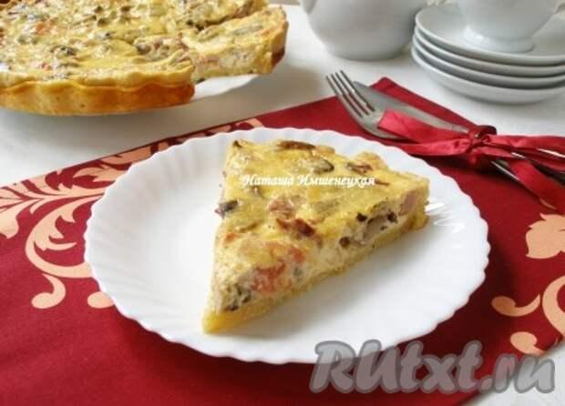 Лоранский пирог с грибами