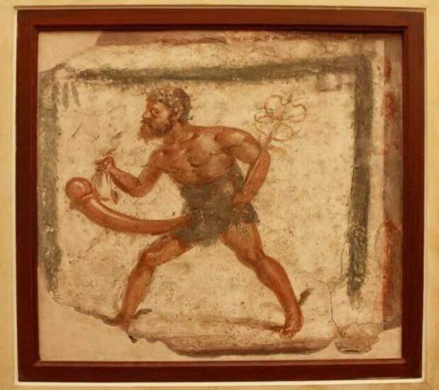 Бог Приап с атрибутами Меркурия, как видите здесь у него все абсолютно нормально (не имея в виду размеры). археология, история, расследование, тайны
