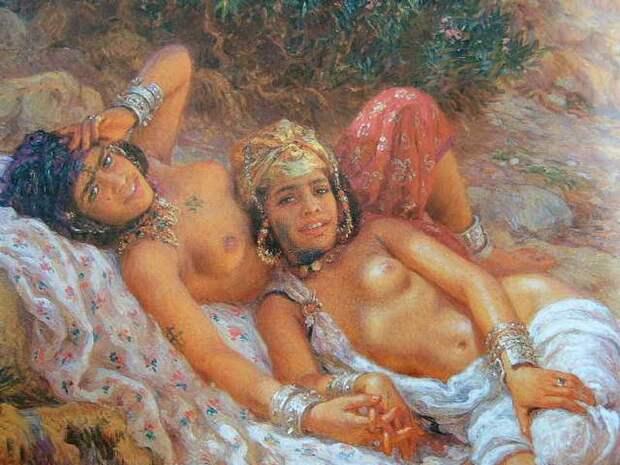 Обнаженная натура в изобразительном искусстве разных стран. Часть 167.