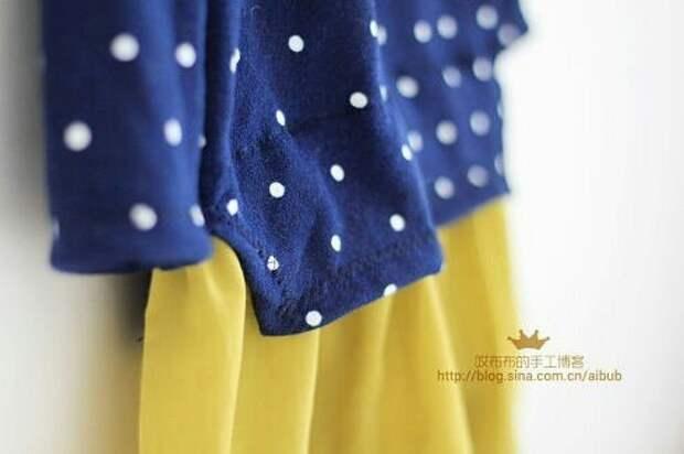 Детское платье с необычными деталями