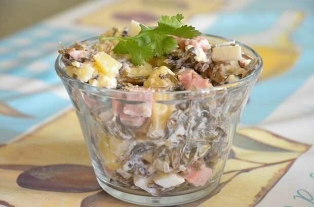 Обалденный салат с морской капустой — впечатляет