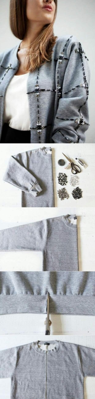 декор свитера мехом