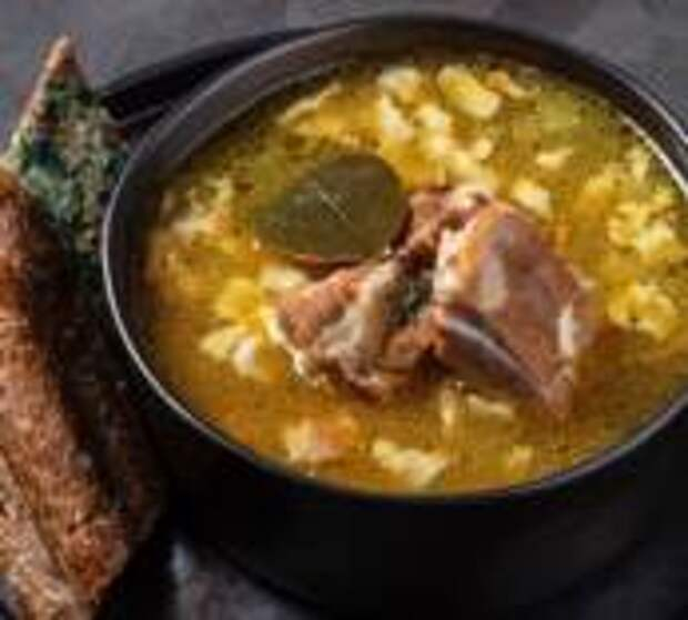 Горячие рецепты холодной осени - Гороховый суп со свиными ребрами