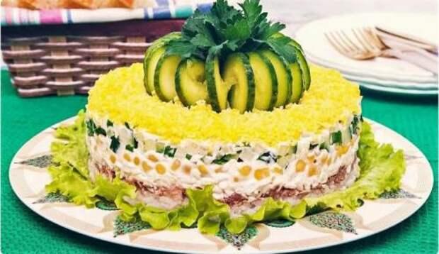 Вкуснейший салат «Диана» на праздничный стол! Коронное блюдо моей свекрови