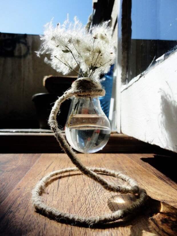 Ваза из лампочки (подборка, Diy)