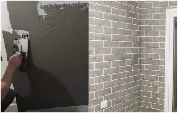 Имитация кирпича, или Как за 1 тыс. руб. сделать стены в стиле лофт