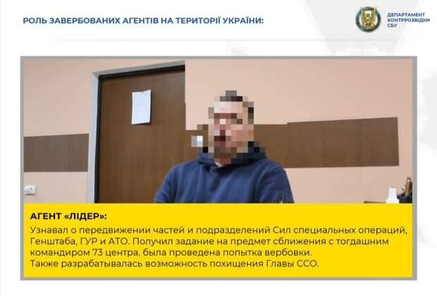 СБУ заявила, что «накрыла» сеть агентов ФСБ, планировавших похищение экс-командира Сил спецопераций