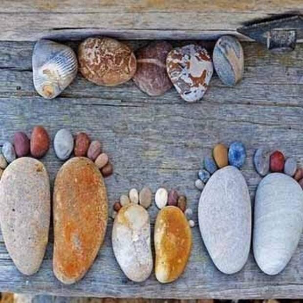 простые идеи для дачи с применением камня