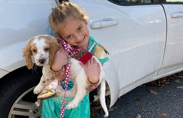 Открыв мусорный бак, женщина встретилась глазами с испуганной собакой и ее крохотным щенком