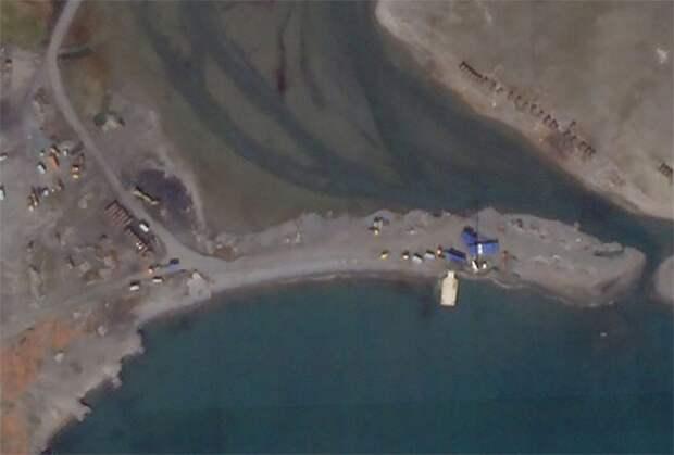 Спутниковый снимок полигона под Неноксой
