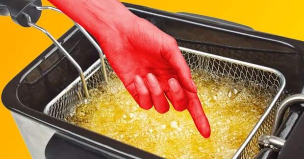 Девушка окунула руку в кипящее масло, но не обожглась – в этом ей помогла физика
