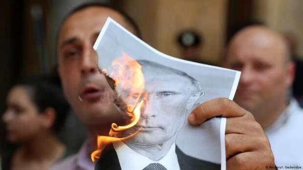 Антирусский погром в Тбилиси: Вы еще верите в «адекватную» Украину?