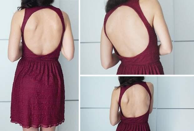 переделка платья вырез на спине
