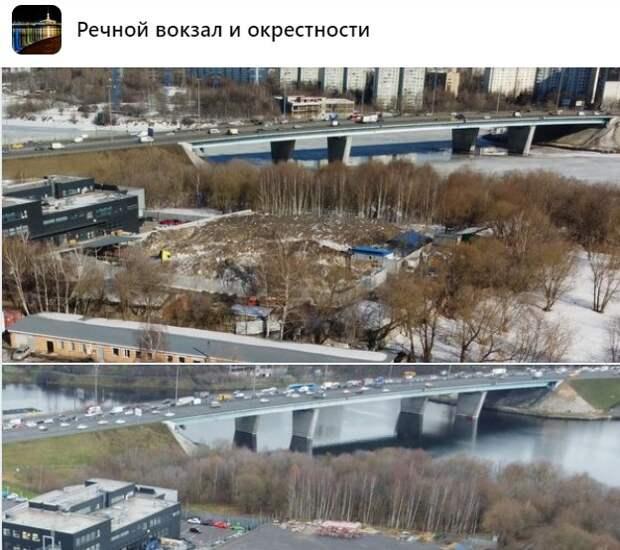 На Ленинградском шоссе выросла снежная гора