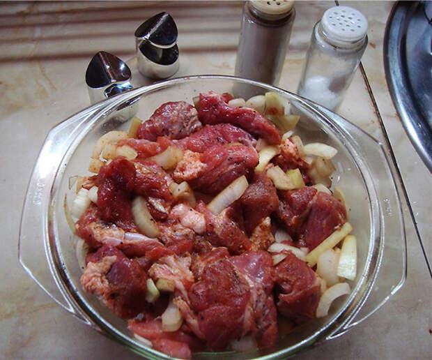 """""""Шашлык"""" с наивкуснейшей картошечкой,  приготовленные в духовке"""