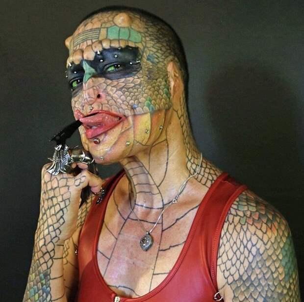 """Американка претендует на звание """"самого модифицированного транссексуала в мире"""" transgender, дракон, модификация, мужчина, перевоплощение, рептилия, сша, фото"""