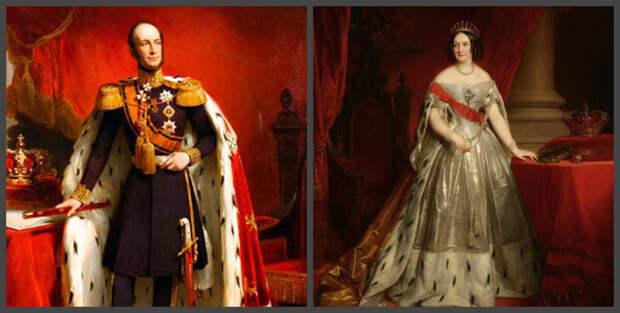 Король Виллем II и королева Анна Павловна