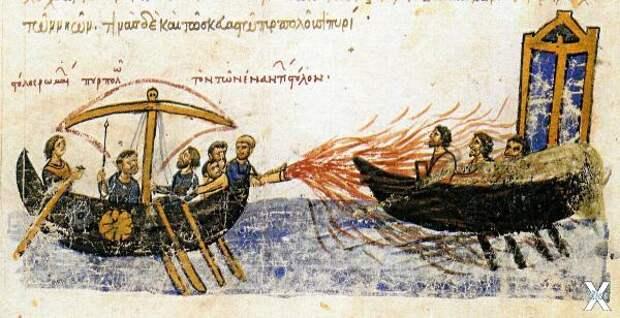 Когда алхимия и древние технологии объединяются: «Греческий огонь» - древнее оружие, которое невозможно потушить