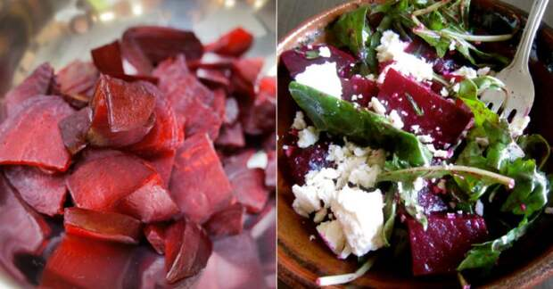 Салат со свеклой и горошком