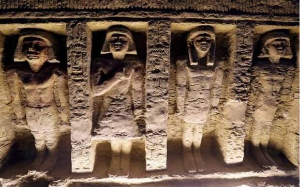 Древние египтяне часто вырезали фигуры людей прямо в стенах гробниц и храмов 4400 лет, Египт, в мире, гробница, наука, находка