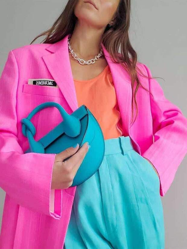 Модные сочетания цветов в одежде летом 2021