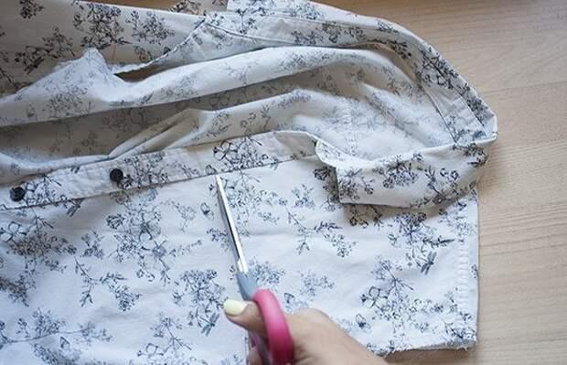 Переделка старой рубашки 1