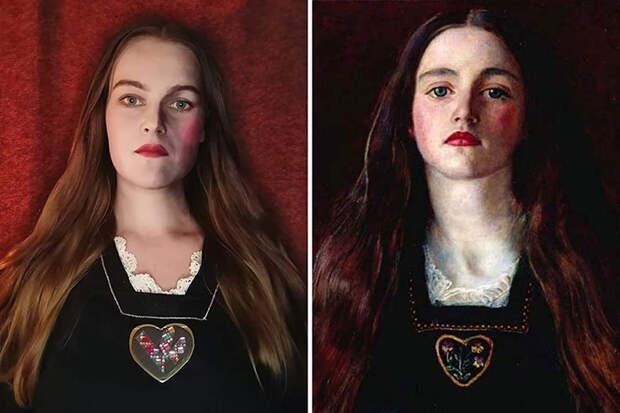 Джон Эверетт Милле. Портрет девушки (София Грей), 1857.