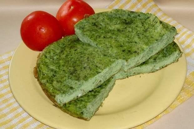 Вкусный зелёный омлет