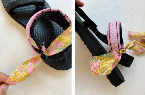 переделка  шлепок летней обуви