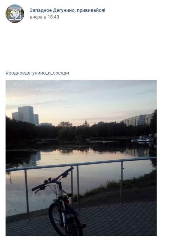 Фото дня: велосипедные прогулки на Ангарских прудах