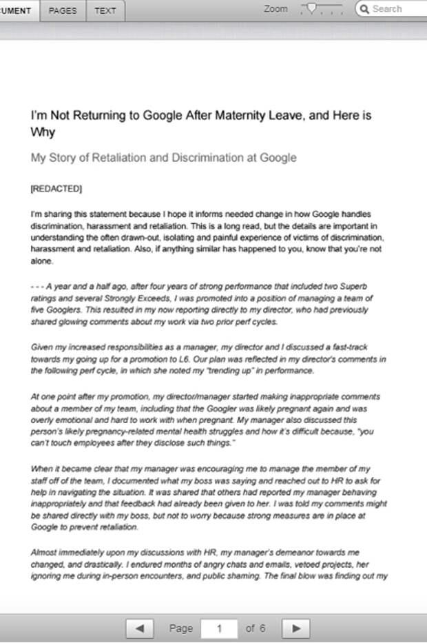 Google обвиняют в дискриминации беременных женщин