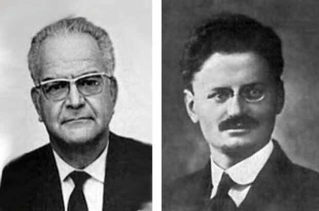 Рамон Меркадер и Лев Троцкий.