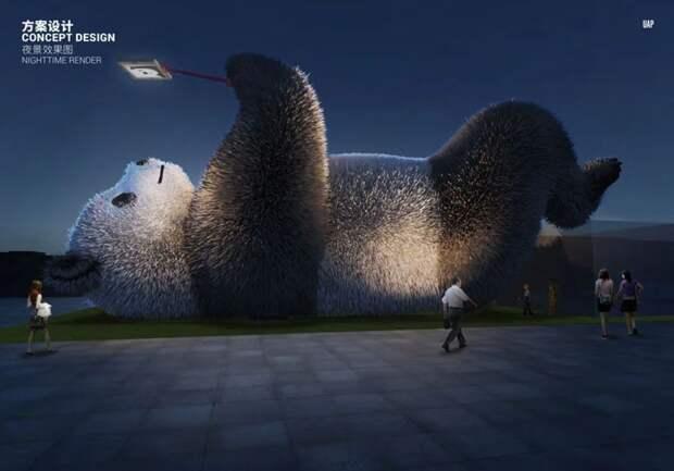 В Китае появилась гигантская селфи-панда