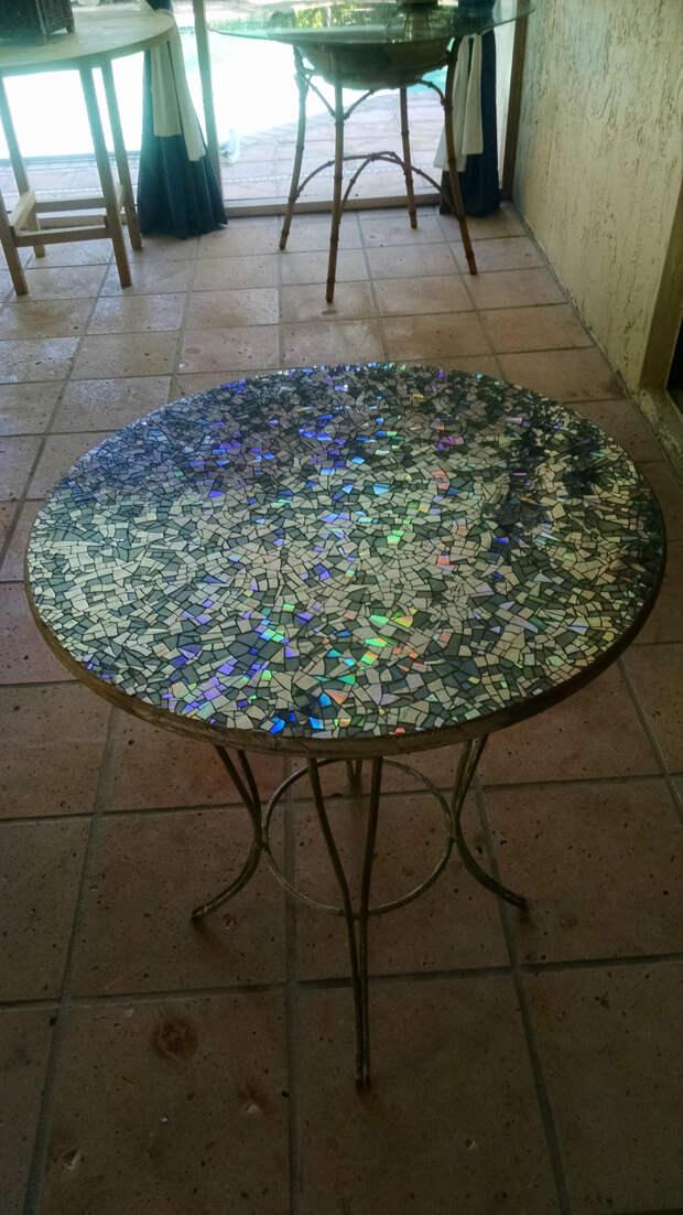 Мозаичная столешница своими руками компакт диск, мозаика, столешница