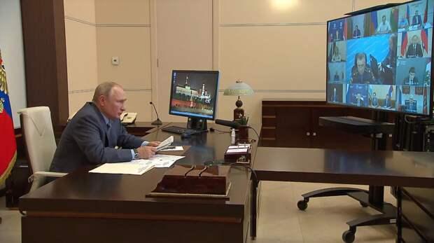 Владимир Путин призвал не забывать о помощи диким животным в горящих лесах