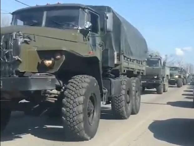 К закрытому силовиками ростовскому рынку, где бунтуют предприниматели, съезжаются колонны военной техники