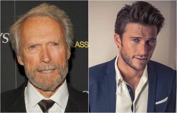 Легендарный актер и режиссер Клинт Иствуд и не менее талантливый сын, молодой актер Скотт Иствуд.